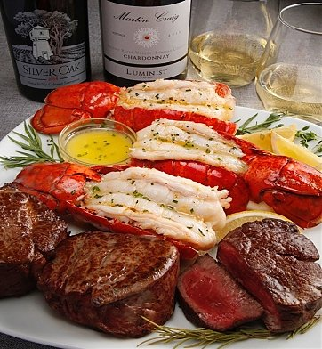 Gourmet Gift Baskets: Steak & Lobster Dinner For Four