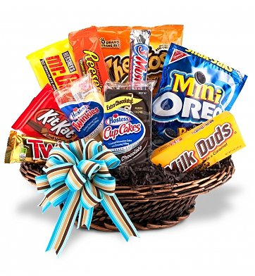 Boston Flower Delivery on Junk Food Basket  Food   Fruit Baskets   A Gift Basket That Is As Fun