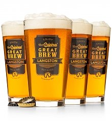 Personalized Keepsake Gifts: The Original Great Brew Personalized Pint Glasses