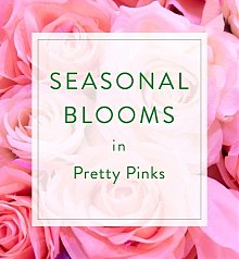 Flower Bouquets: Designer's Choice Seasonal Bouquet: Pink