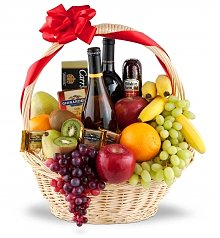 Wine & Fruit Baskets: Congratulations Premium Selection
