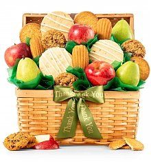 Fruit Baskets: Premium Grade Fruit and Cookies Appreciation Basket