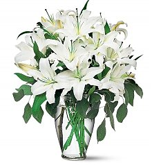 Flower Bouquets: Magnificent White Lilies